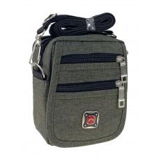 На фото 1 - Спортивная поясная сумка из текстиля, цвет хаки