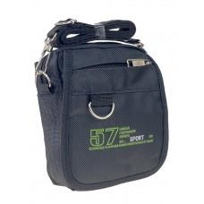 На фото 1 - Поясная спортивная сумка из текстиля, цвет чёрный