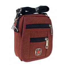 На фото 1 - Спортивная поясная сумка из текстиля, цвет бордовый