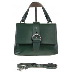 На фото 2 - Кожаная сумка зеленого цвета 3031AK