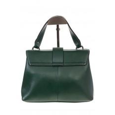 На фото 3 - Кожаная сумка зеленого цвета 3031AK