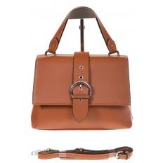 На фото 2 - Кожаная сумка коричневого цвета 3031AK