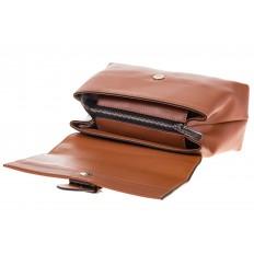 На фото 4 - Кожаная сумка коричневого цвета 3031AK