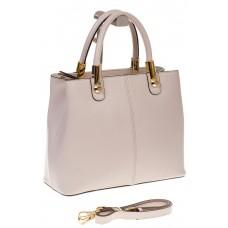 на фото Женская-сумка тоут из натуральной кожи, цвет белый 3031MK5