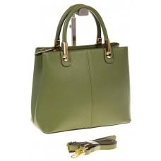 на фото Женская-сумка тоут из натуральной кожи, цвет зеленый 3031MK5