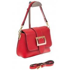 На фото 1 - Маленькая сумка-почтальонка красного цвета ...