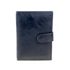 На фото 1 - Обложка для паспорта и автодокументов из чёрной экокожи