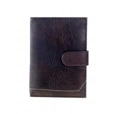 На фото 1 - Обложка для автодокументов и паспорта из экокожи, цвет коричневый