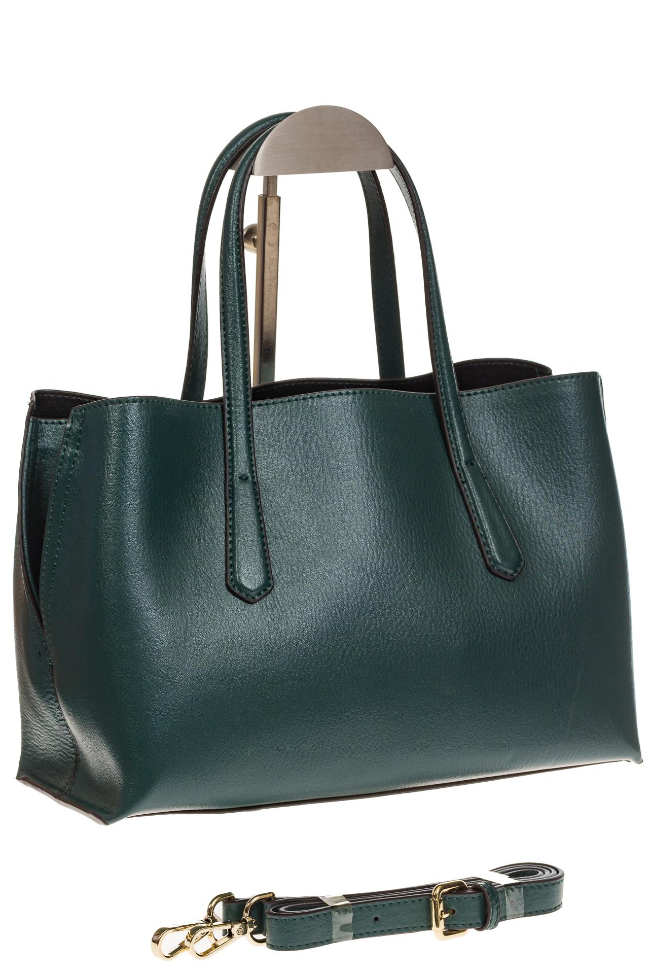 На фото 1 - Зеленый handbag из натуральной кожи
