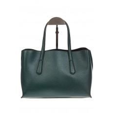На фото 3 - Зеленый handbag из натуральной кожи