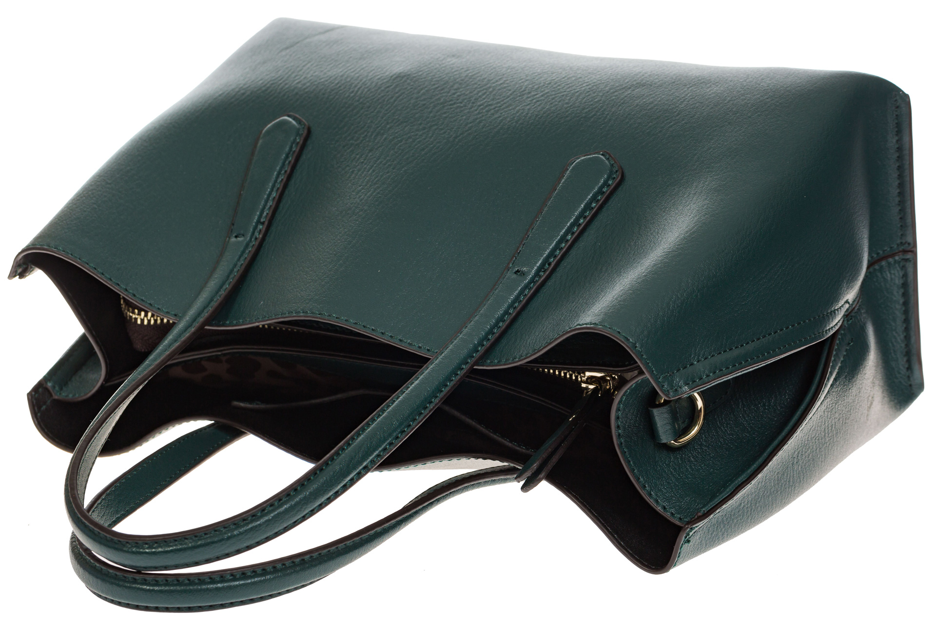 На фото 4 - Зеленый handbag из натуральной кожи