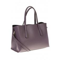 на фото Handbag из натуральной кожи фиолетового цвета 3087MK5