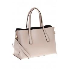 на фото Handbag из натуральной кожи молочного цвета 3087MK5