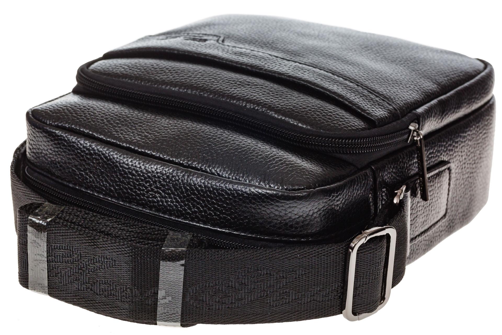 На фото 4 - Мужская сумка из натуральной кожи