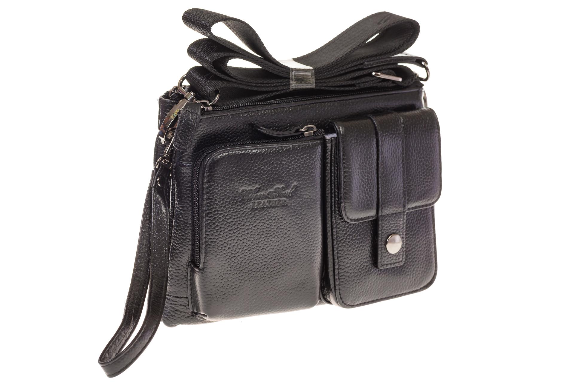 На фото 1 - Универсальная сумка-барсетка из натуральной кожи 3090MM5