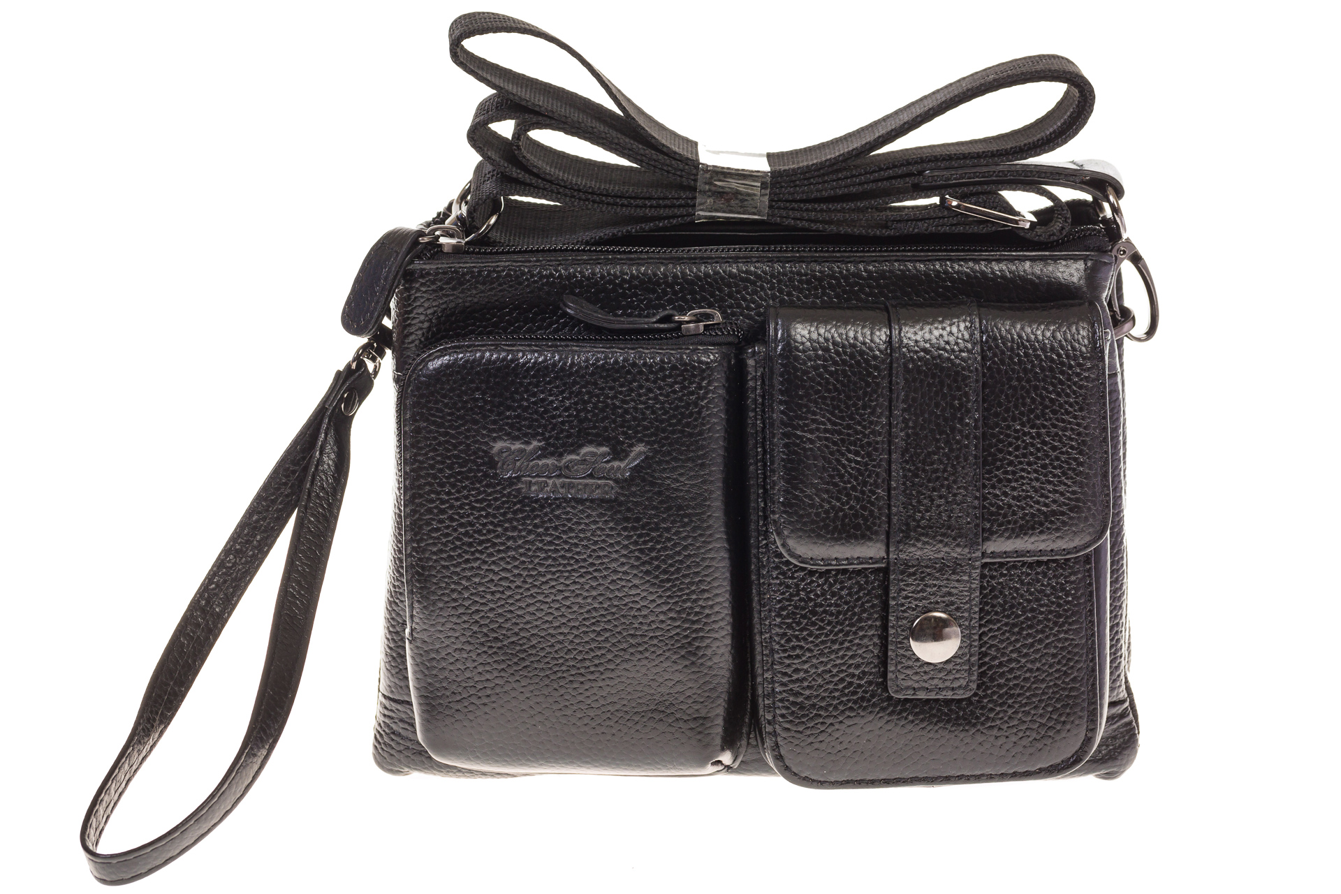 На фото 2 - Универсальная сумка-барсетка из натуральной кожи 3090MM5