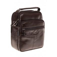 На фото 1 - Мужская сумка-барсетка из натуральной кожи,...