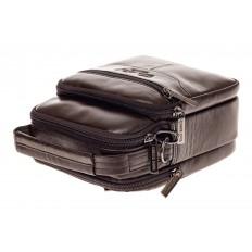 На фото 4 - Мужская сумка-барсетка из натуральной кожи, цвет коричневый