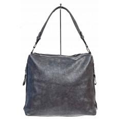 На фото 2 - Женская сумка хобо из искусственной кожи, цвет серый
