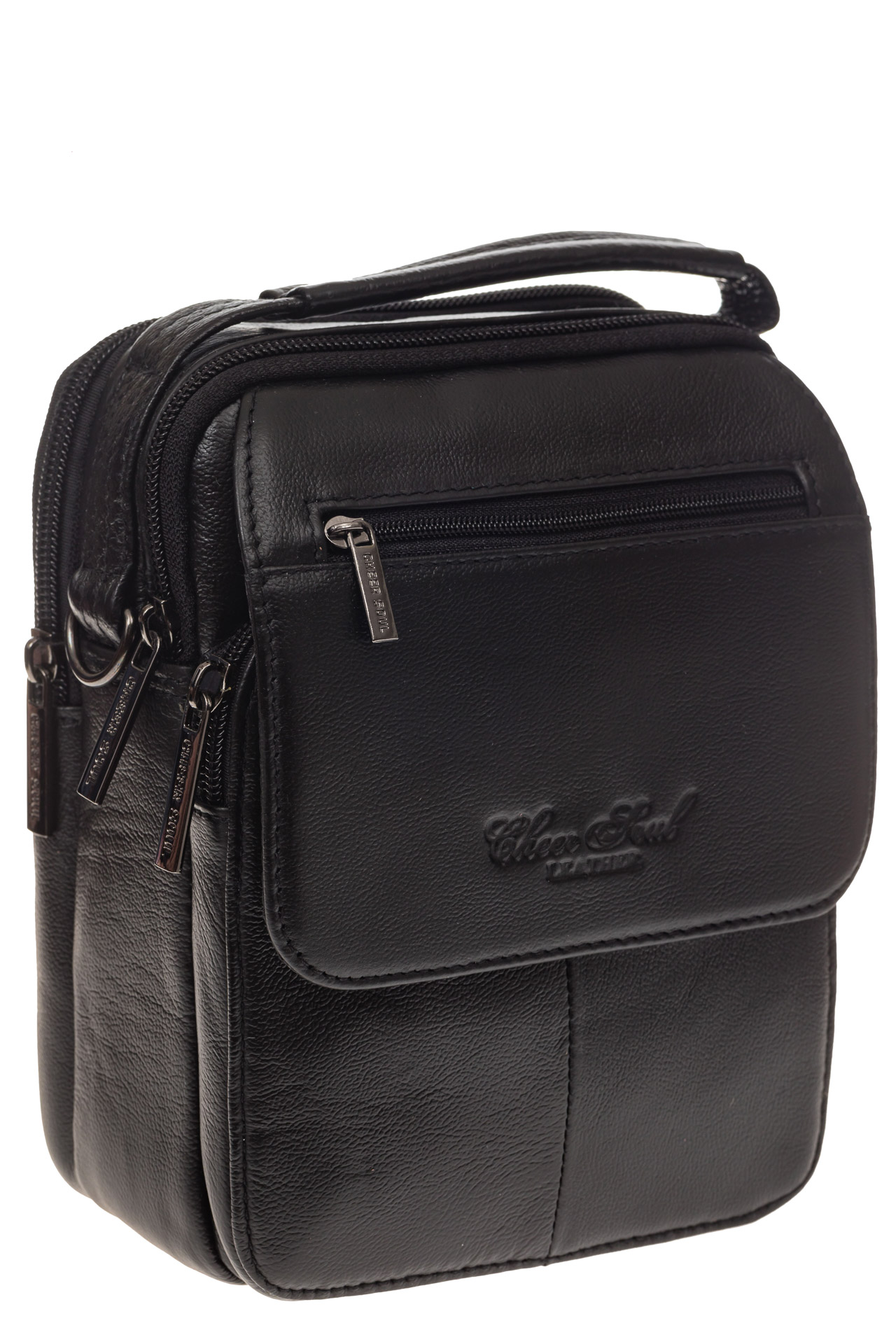 На фото 1 - Маленькая мужская сумка из натуральной кожи