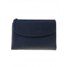 На фото 1 - Женский кошелёк из фактурной натуральной кожи, цвет чёрный