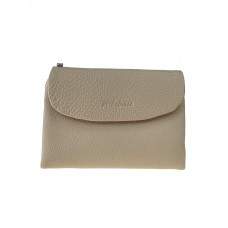 На фото 1 - Женский кошелёк из фактурной натуральной кожи, цвет бежевый