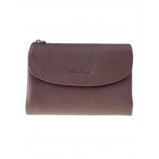 На фото 1 - Женский кошелёк из фактурной натуральной кожи, цвет серо-сиреневый