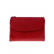На фото 1 - Женский кошелёк из фактурной натуральной кожи, цвет красный