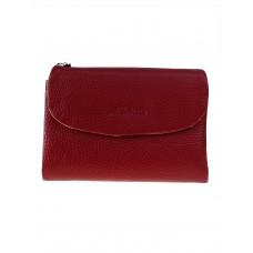 На фото 1 - Женский кошелёк из фактурной натуральной кожи, цвет бордовый