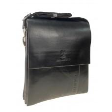 На фото 1 - Мужская сумка-планшет из чёрной искусственной кожи