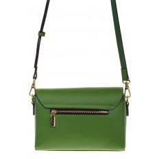 На фото 3 - Сумка-багет из натуральной кожи зеленого цвета 3103MK5