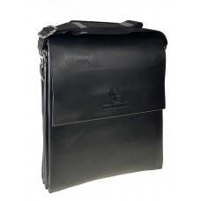 На фото 1 - Сумка-планшет из искусственной кожи для мужчин, цвет чёрный размер M