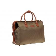 На фото 1 - Багажная сумка саквояж из плотной ткани, цвет хаки