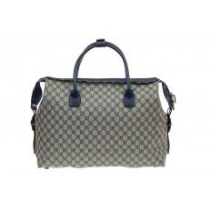 На фото 3 - Багажная сумка саквояж из искусственной кожи, цвет серый