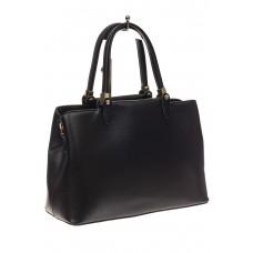 На фото 1 - Черная классическая сумка из искусственной кожи
