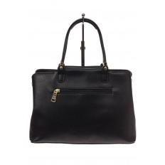На фото 3 - Черная классическая сумка из искусственной кожи