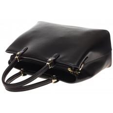 На фото 4 - Черная классическая сумка из искусственной кожи