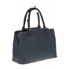 На фото 1 - Серо-голубая классическая сумка из искусственной кожи