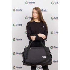 На фото 4 - Дорожная сумка с фастексами, цвет темно-серый