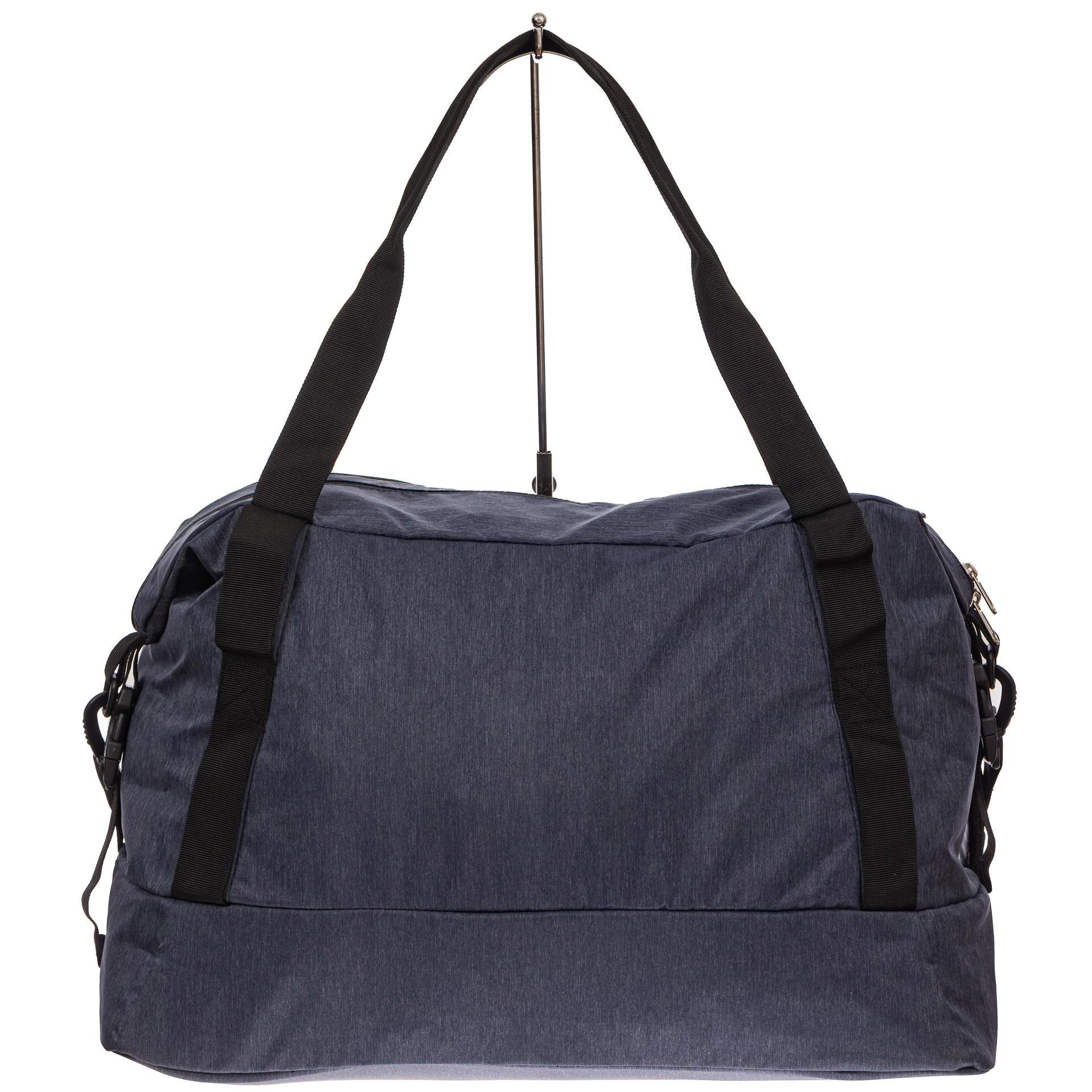 На фото 2 - Дорожная сумка с фастексами, цвет серый