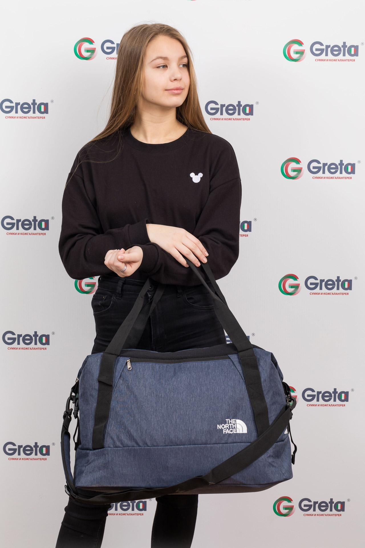 На фото 4 - Дорожная сумка с фастексами, цвет серый