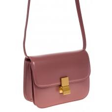 на фото Пудровая сумочка cross-body из натуральной кожи 3221MK5