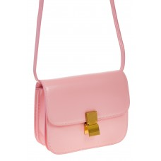 на фото Розовая сумочка cross-body из натуральной кожи 3221MK5