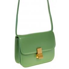 на фото Светло-зеленая сумочка cross-body из натуральной кожи 3221MK5