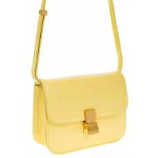 на фото Желтая сумочка cross-body из натуральной кожи 3221MK5