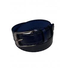На фото 1 - Мужской ремень из натуральной кожи, цвет тёмно-синий