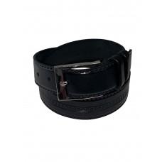 На фото 1 - Ремень мужской кожаный, цвет чёрный