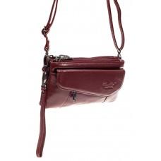 На фото 1 - Маленькая сумка клатч из натуральной кожи, ...
