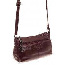 На фото 1 - Женская сумка из натуральной кожи, цвет бор...