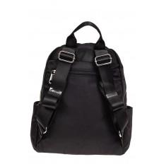 На фото 2 - Городской женский рюкзак из текстиля, цвет черный